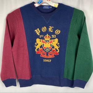 Ralph Lauren Heraldic Crest Royal Crown Sweater